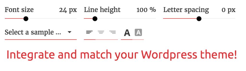 Fontsampler customized colours